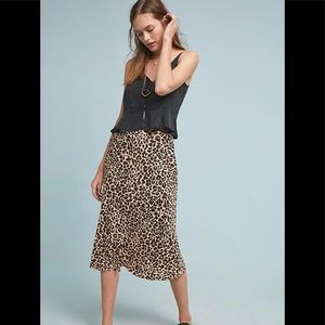 NWT Anthropologie Leopard Print Skirt in Size 12